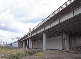 Эстакады на КАД СПб, где применены опорные части и деформационные швы, изготовленные фирмой Стройкомплекс-5