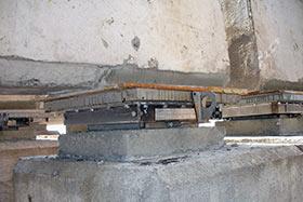 Шаровые сегментные опорные части на мосту С-2 КЗС СПб