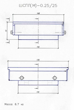 Конструктивная схема опорных частей минимизированных (на примере опорных частей под нагрузку 25 т) .