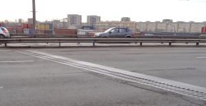 Деформационный шов ДШГ на путепроводе по пр. Маршала Жукова в Санкт-Петербурге
