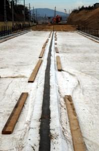 ДШТ в качестве продольного шва для двухпутного моста