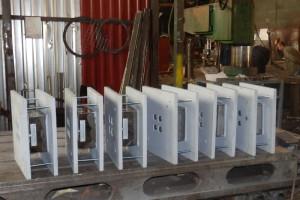 Опорные части скольжения на заводе