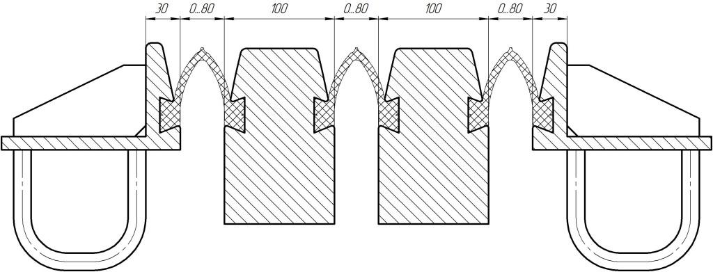 Пример: деформационный шов ДШС-240