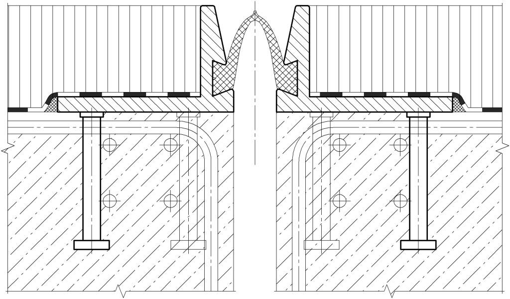 Схема установки ДШС-80 с использованием вертикальных анкеров «Нельсон»