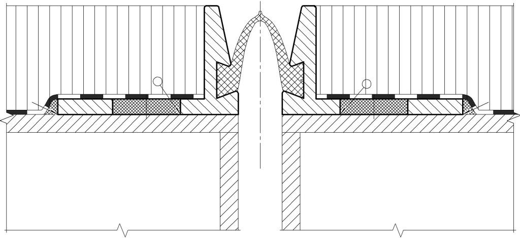 Вариант анкеровки окаймлений приваркой к покровному листу ортотропной плиты