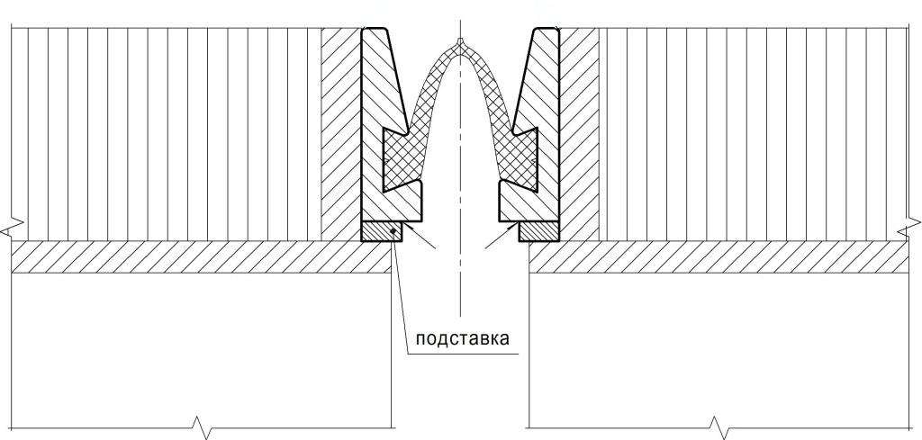 Вариант анкеровки окаймлений приваркой к вертикальному листу на торце ортотропной плиты