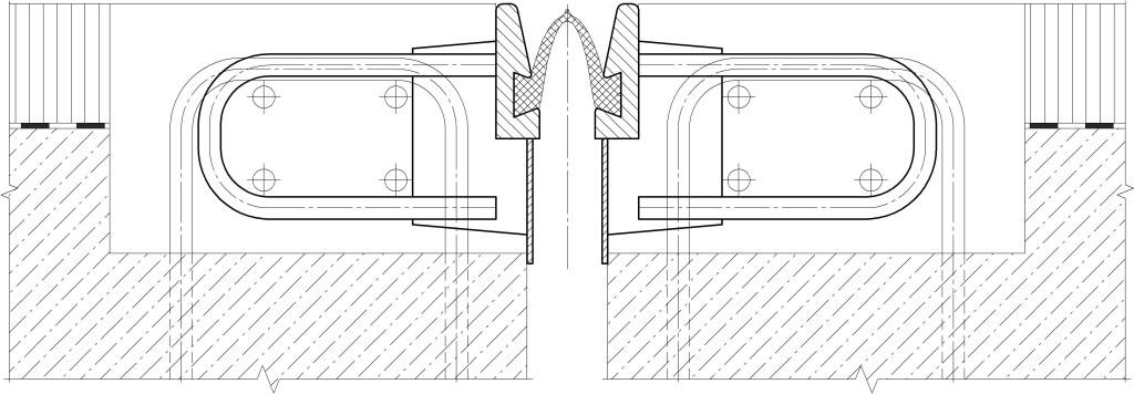 Вариант анкеровки окаймлений с горизонтальными петлевыми анкерами