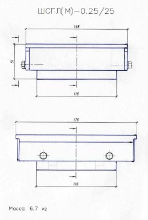 Конструктивная схема опорных частей минимизированных (на примере опорных частей под нагрузку 25 т)