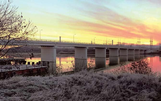 Мост через р. Сейм на автомобильной дороге к Курской АЭС-2, где использованы опорные части и деформационные швы производства группы компаний «Стройкомплекс-5»