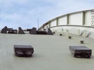 Пылезащитные опорные части на арке под теплотрассу в Санкт-Петербурге